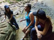 Women taking a break at Mohican